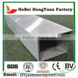 China Factory Price Hot Rolled Zinc Coat Round / Square Black Steel Pipe