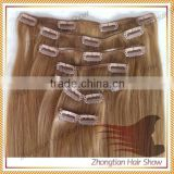 Brazilian human hair extension High quality Ombre Hair Extension Clip in for black women