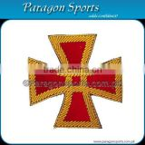 5th Corps Civil War Embroidered Corps Badges Red Velvet Background with Gold Bullion Borders
