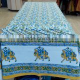 100 % cotton Multi color Jaipur handblock printed table covers with napkins 6 seater 8 seater 12 seater