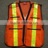 The real shoot fashion style safety vest with black edge