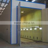 Q26 series best price , warranty steel grit/sand blasting room for large parts surface cleaning
