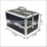 Aluminum Makeup Train Case Lockable Cosmetic Jewelry Box Artist Beauty Bag Black ZYD-HZ265