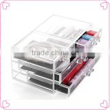 wholesale acrylic makeup organizer with drawers,tabletop spinning cosmetic organizer
