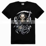 OEM 3d Printing Factory High quality old skull t-shirt, korean fashion t-shirt, korean men t-shirt