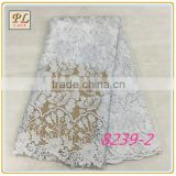 Geometric embroidery design lace fabric swiss cotton voile fabric big heavy lace swiss voile lace