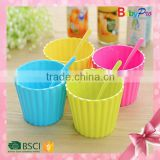 Babypro 2015 Hot New Product Alibaba China Baby Product Colorful Ice Cream Bowl And Spoon Baby Bowl Set Baby Tableware                                                                         Quality Choice