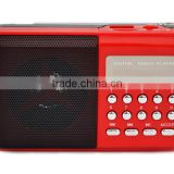 Robot-098 Portable card speaker,digital fm radio,Led lights,,mini speaker with TF/Micro SD card/USB disks,radio fm