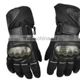 Adult Motorcycle Motocross Racing Gloves long leather ski warm gloves for men