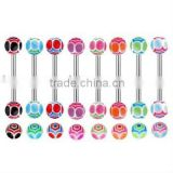 316L Body Piercing Jewelry/UV Acrylic barbell