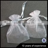 Factory Sale Top Quality excellent quality cosmetic drawstring pouches organza bag for sale