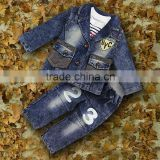 New Autumn And Winter Boys Clothing Sets 3 PCS Jeans Jacket And T Shirt And Pants Kids Clothing Sets Wholesale CS30725-6