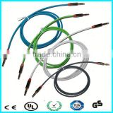 TPE jacket 3core 3.5mm coiled audio cable