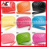 2015 china cosmetic factory wholesale pu cosmetic bag candy colors makeup bag women purses alibaba express china