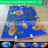 2016 wholesale african blue java wax ankara print fabric with butterfly                                                                                                         Supplier's Choice