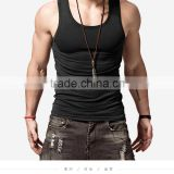 Men's solid color sleeveless sports vest male fitness tight undershirt male summer cotton tank top men