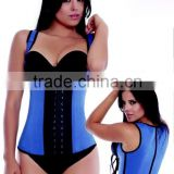 New Design Wholesale Steel Bone Waist Latex Corset Body Slimming Shapewear, high waist corset