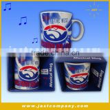 Musical Decorative Christmas Electronic Coffee Mugs, High Quality Christmas Electric Coffee Mugs
