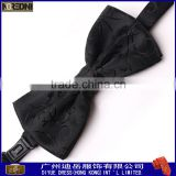 High quantity custom 100% polyester woven men's bowtie fashion bow tie with pocket square