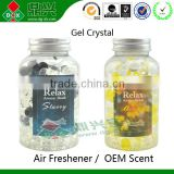 Home Fresh Scented Car Gel Ball Gel Beads Air Freshener Scented Bottle Decorate
