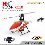 Hot sale rc XK K110 Blash 6CH Brushless 3D6G System RC Helicopter helicopters RTF with transmitter