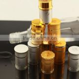 New design high quality golden paint cap fancy plastic wine bottles cap printing logo cap