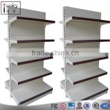 Cheap metal shelving for convenience store/ MDF display