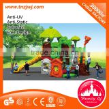 CE approved big backyard playsets kids play structure with plastic slides