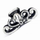 Hot Sale Nice Hair Jewelries Black Butterfly Shape Inlay Full Rhinestone Hair Barrette Claw For Christmas Women
