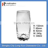 LongRun 12oz standard size clear glass water set glass drinking sets&glassware gift wholesale