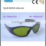 755nm and 808nm 1064nm laser protective eyewear for Alexandrite Diode ND:YAG Laser protection