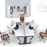 stronger office partition office workstation for three people with metal base E-519