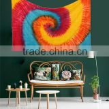 Tie dye Indian Printed Wholesale Tapestry Wall Hanging, Mandala Throw, Hippie Picnic Blanket, Boho Cotton Fabric Bed Sheets