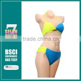 New Wholesale 2015 yello blue mix color bikini sets Lady hot sexy print swimwear colorful bikini