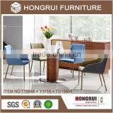 2016 hongrui Latest dining table design in wood , round Wooden Table, Wooden Dining Table set