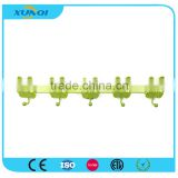 Green Panda Shape Household Wall Mounted Metal Pothook with 5 Hooks Used in Bedroom, Kitchen and Bathroom XQ1358