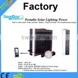 portable solar lighting power with Output:DC12V & 5V USB