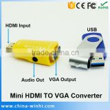 Micro HDMI TO VGA Converter Switcher With Audio For TV Box TV PS3
