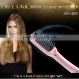 2 in 1 anion LCD electric fast keratin hair straightener