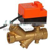 DGQF-B Dynamic Balance Filter Motorized Ball Valve with 2 Nm Actuator/Electric Ball Valve/Brass Filter Ball Valve
