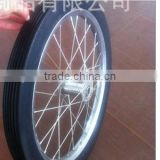 26 inches PU wheel 26'' rubber wheel for carriage wagon