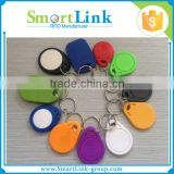 custom design contactless RFID plastic key tags,TK4100/Ntag213/S50 chip rfid key fob/tag, rfid smart key ring for door control