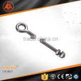 high quality stainless steel eye bolt welded with nuts AISI 304 or 316 lifting eye bolt flat eye bolt