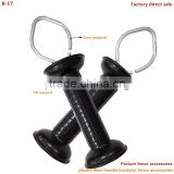 Electric fence insulator;Gate handle with tension spring with eyelet;spring animal fence gate