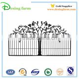 Powder coating beautiful iron sliding door gate designs