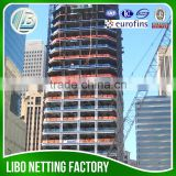 orange safety netting for scaffolding