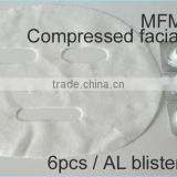 Wholesale 100% Rayon biodegradable Compressed Facial Mask Coin With Blister Sheet Package