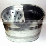 16 L Galvanised House hold seamless Mop bucket with wringer, metal mop bucket, galvanized mop bucket