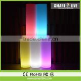 PE plastic cylinder vases with led light