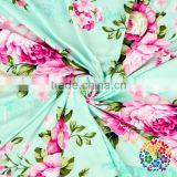 Hot Selling Summer Baby Mint Flower Blanket Custom Print Muslin Swaddle Blanket